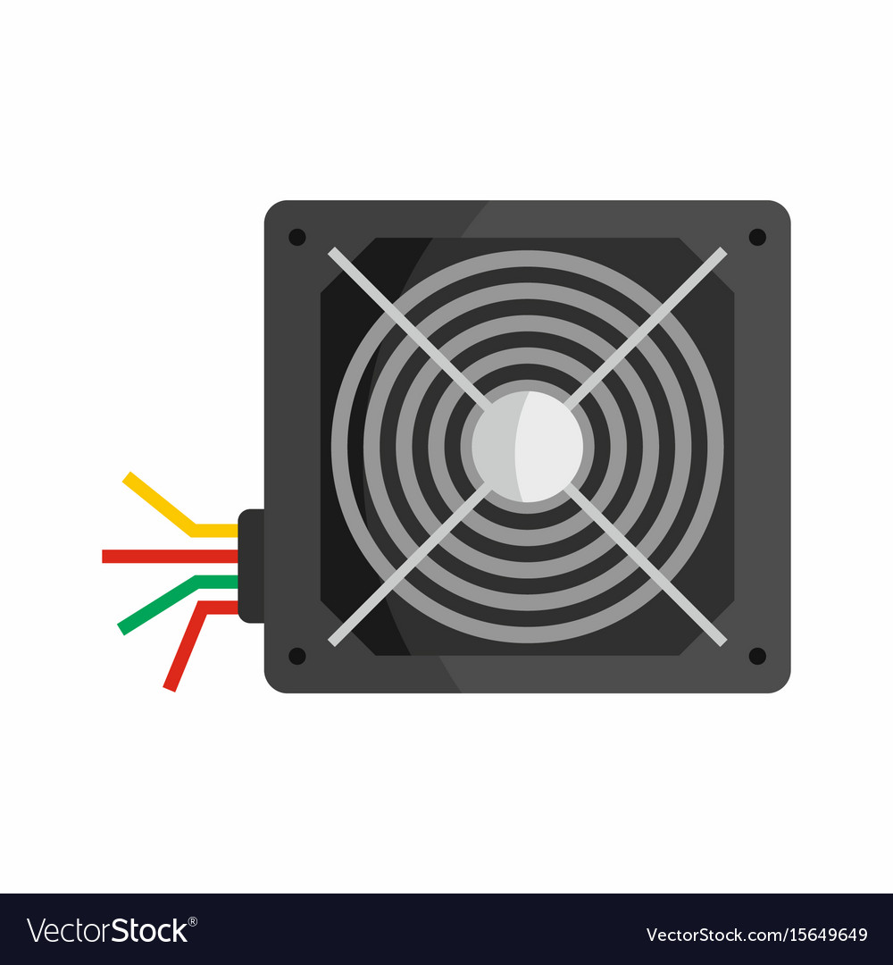 Flat hardware power supply icon for repair service