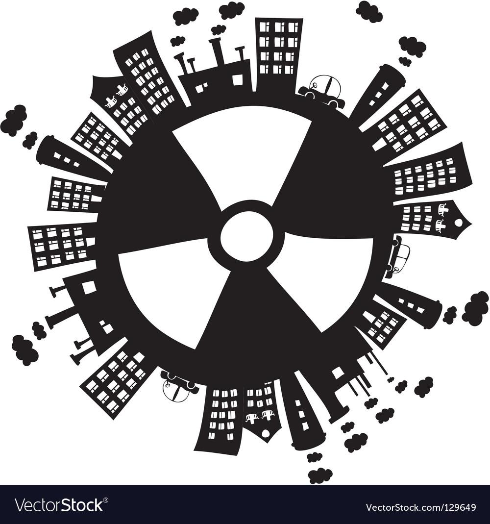 Radiation vector image