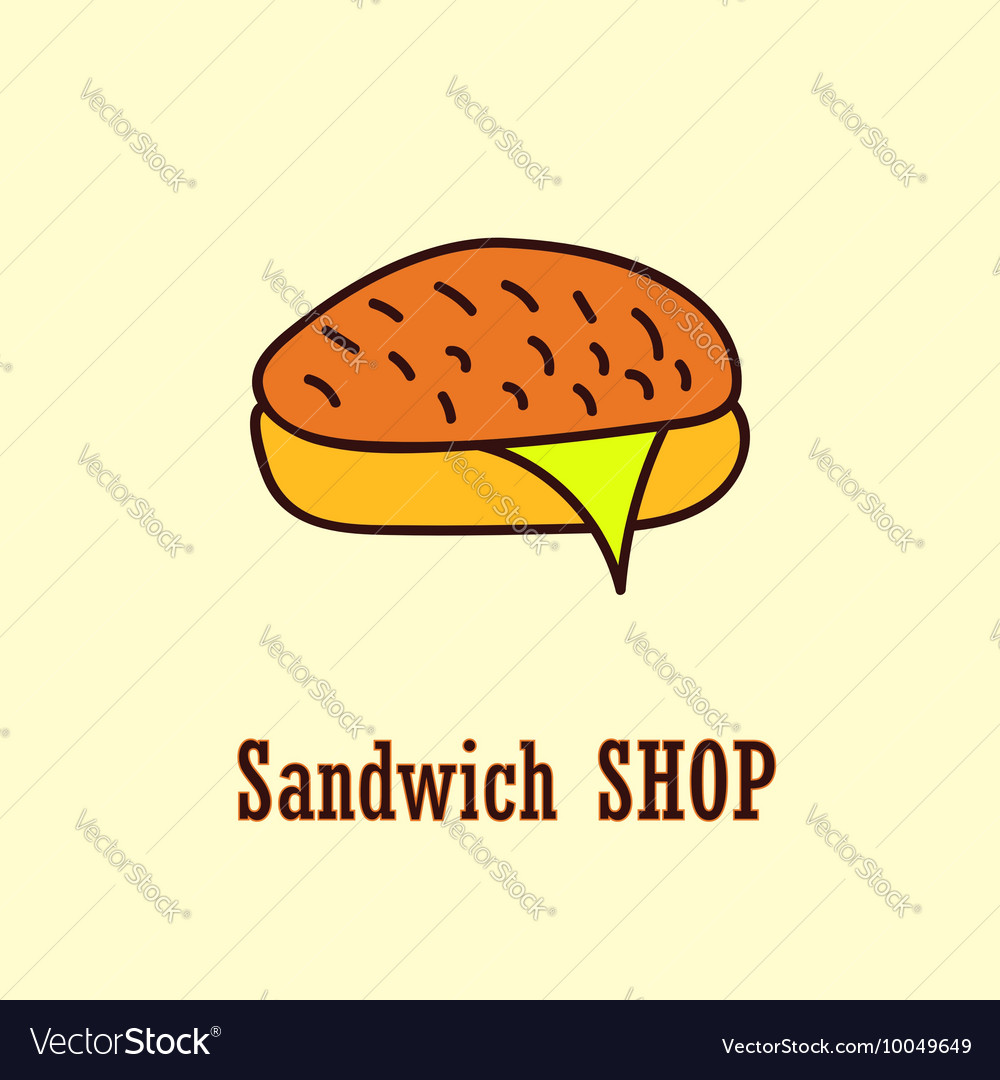 Sandwich logo template Royalty Free Vector Image