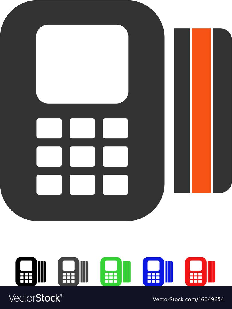 Card processor flat icon