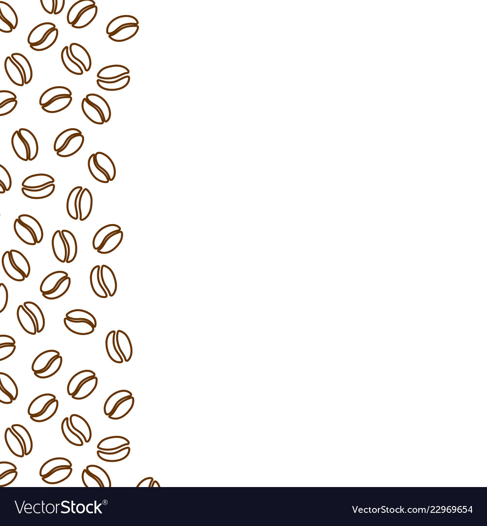 Coffee beans ad banner template blank background