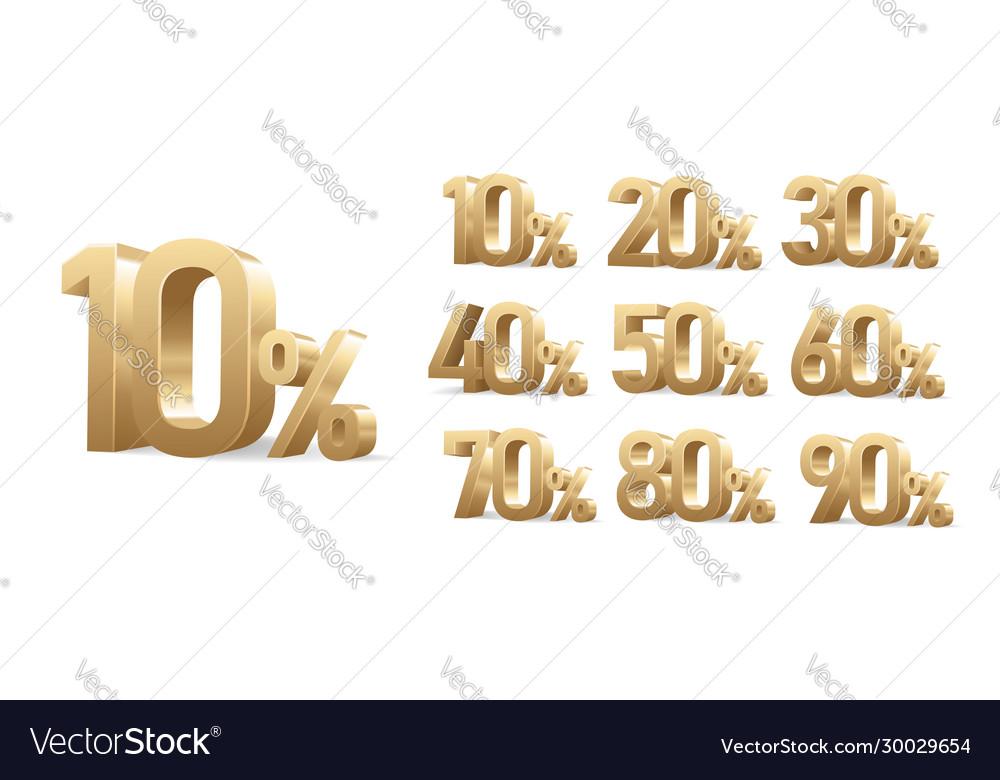 Discount numbers set