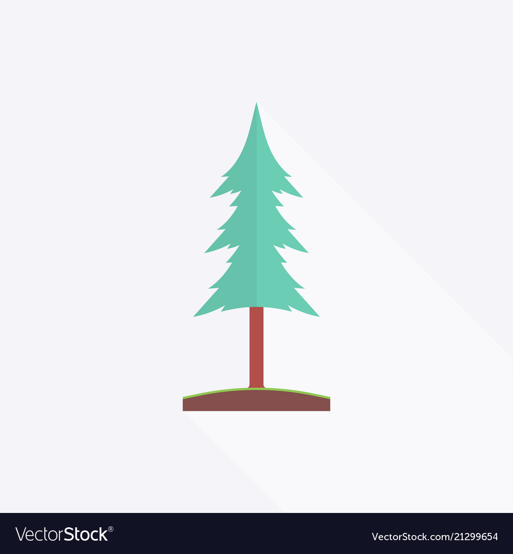 Fir-tree in flat design style