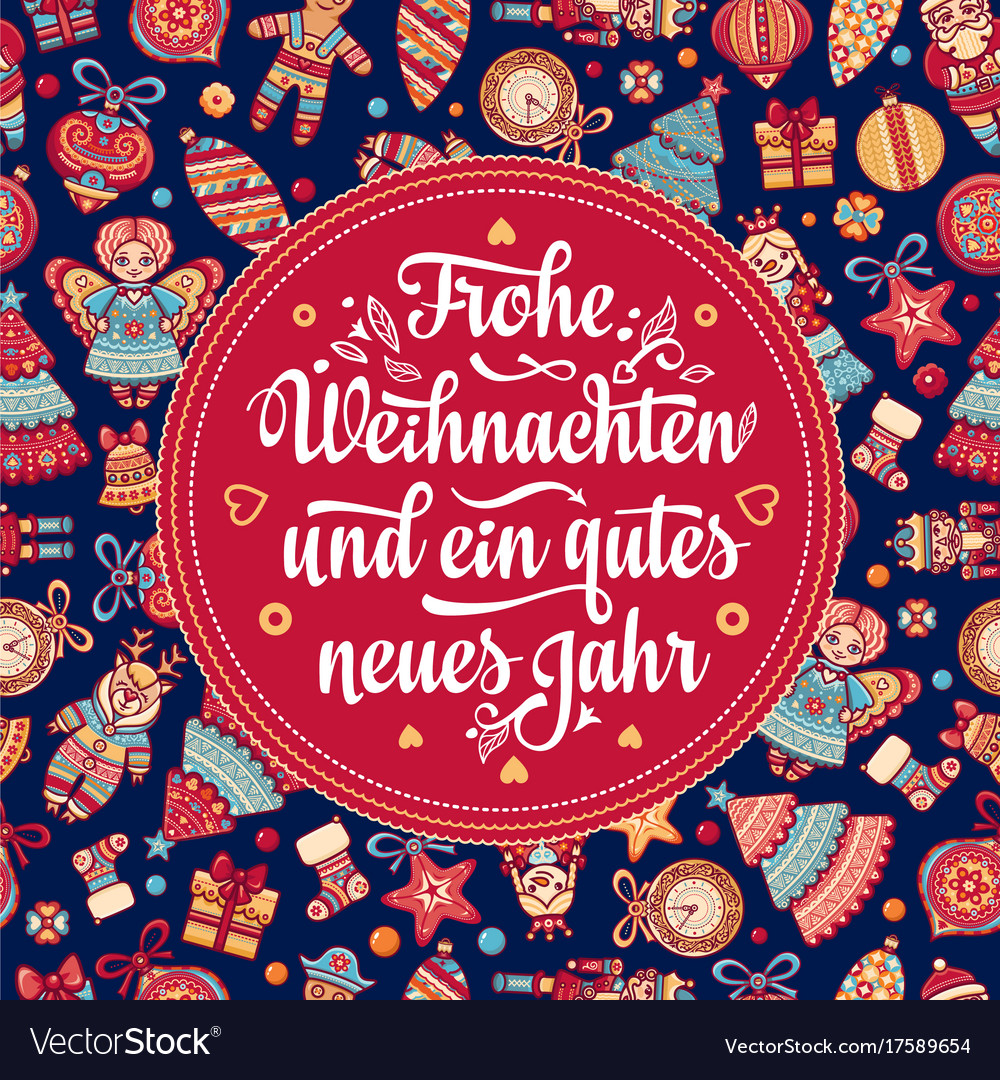 Frohe weihnacht xmas congratulations in germany Vector Image