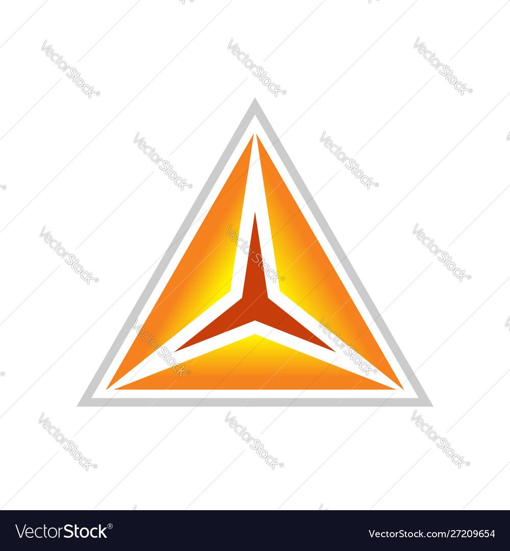 Golden clarity triangle symbol design