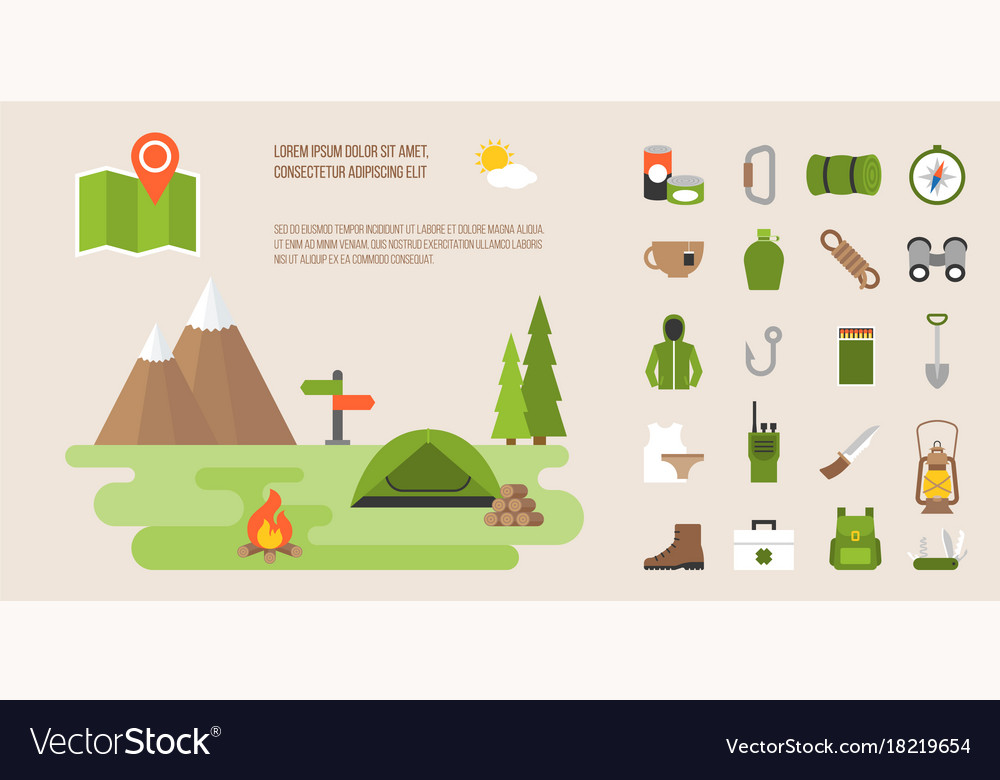 Info graphic of camping