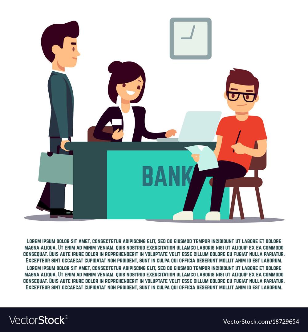 Man in bank flat - banking