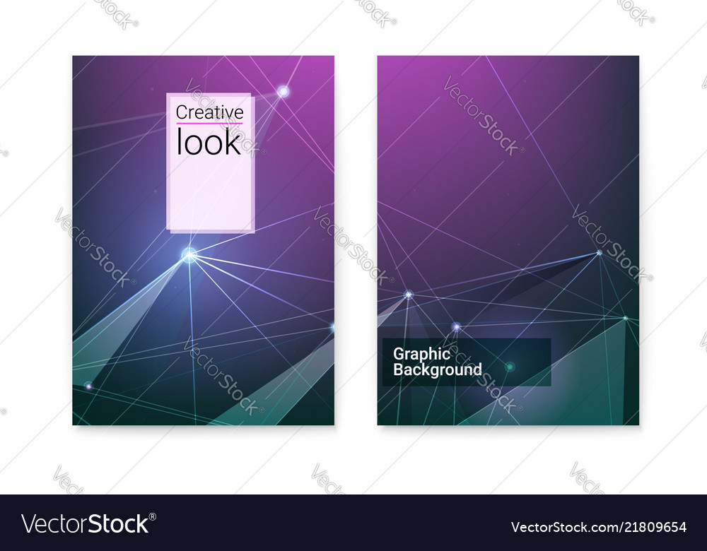 Set of covers with digital cyber pattern