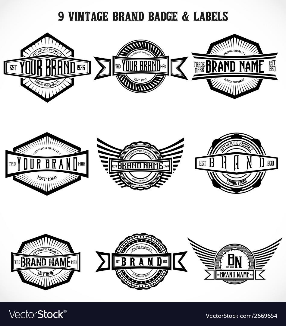 Vintage Brand Badge Labels vector image