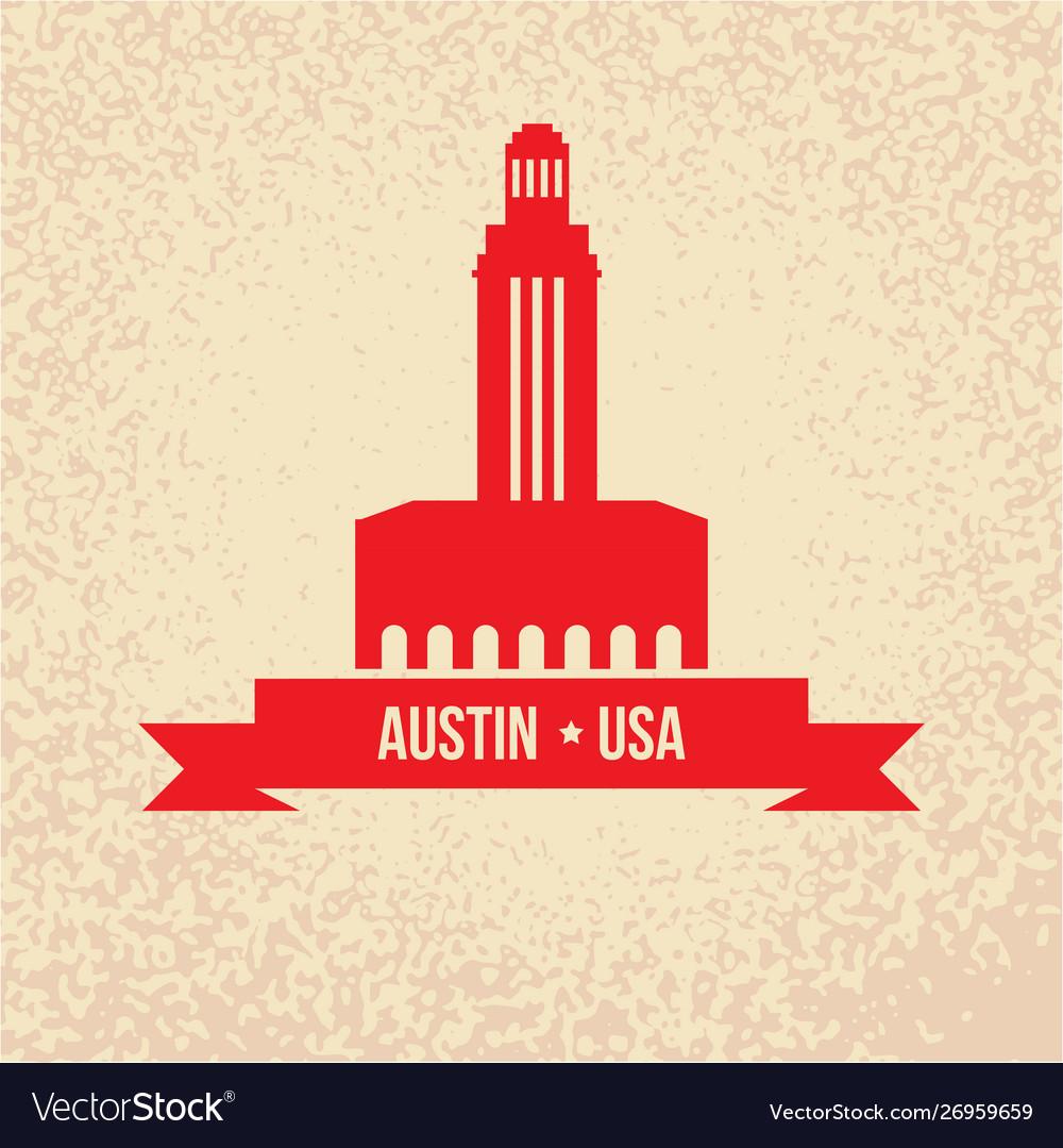 Austin usa detailed silhouette