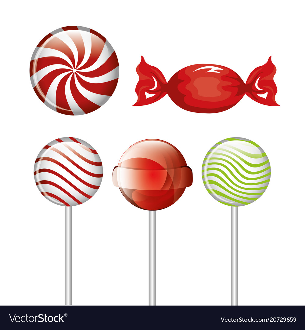 Candy sweet icons design isolated