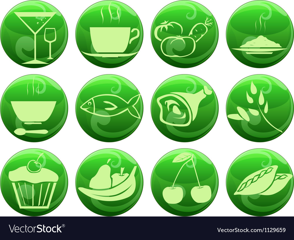 Food icons on buttons