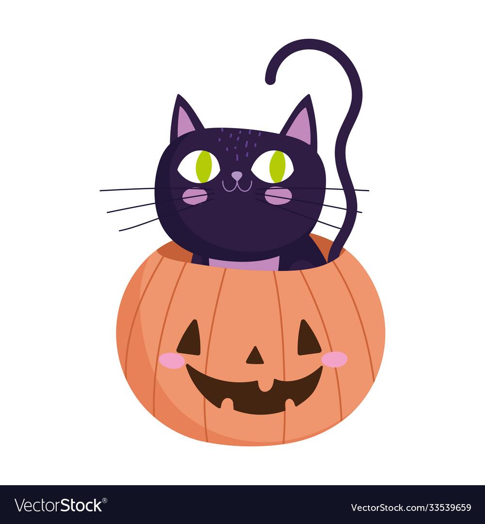Happy halloween inside pumpkin trick or treat