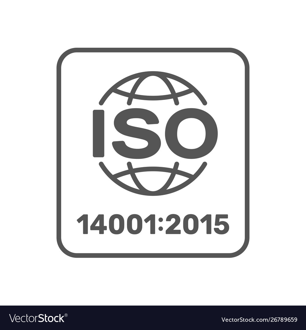 Iso 14001 2015 certified symbol iso 14001 2015