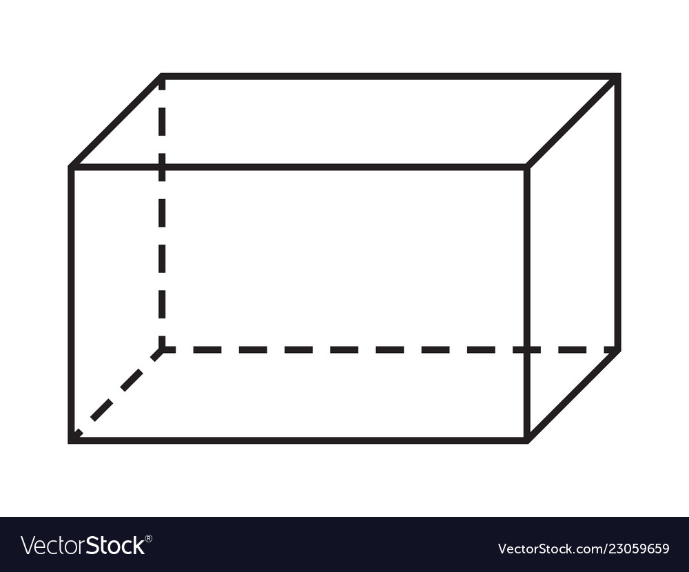 Parallelepiped shape geometry figure