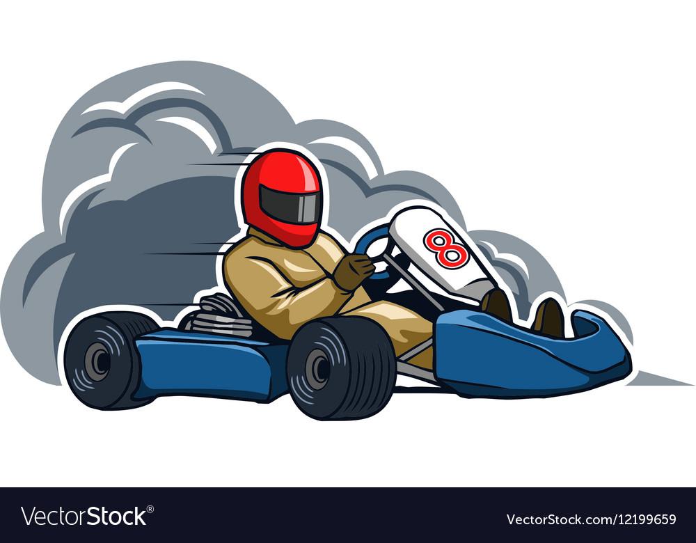 Run Fast Gokart vector image