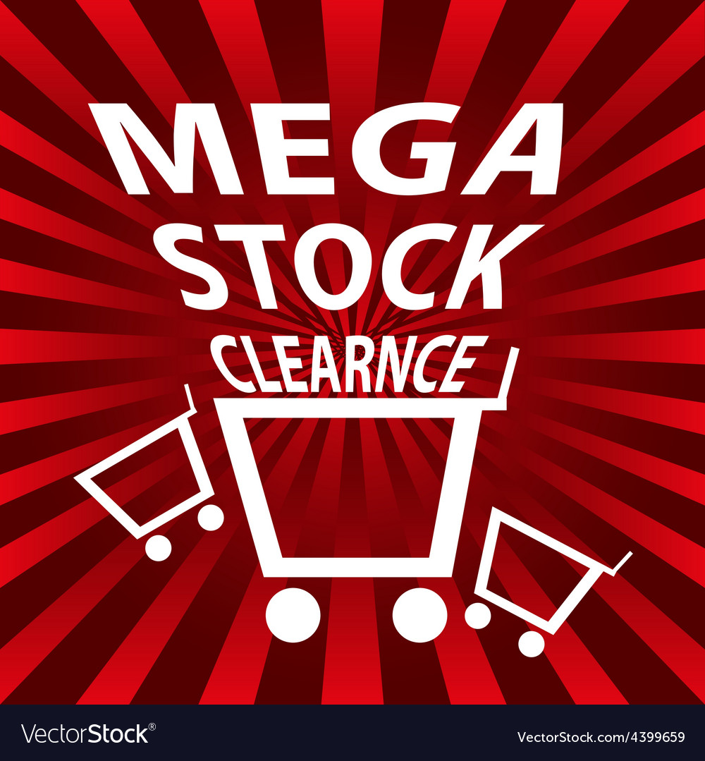 d52546cd995 Stock clearance sale background Royalty Free Vector Image