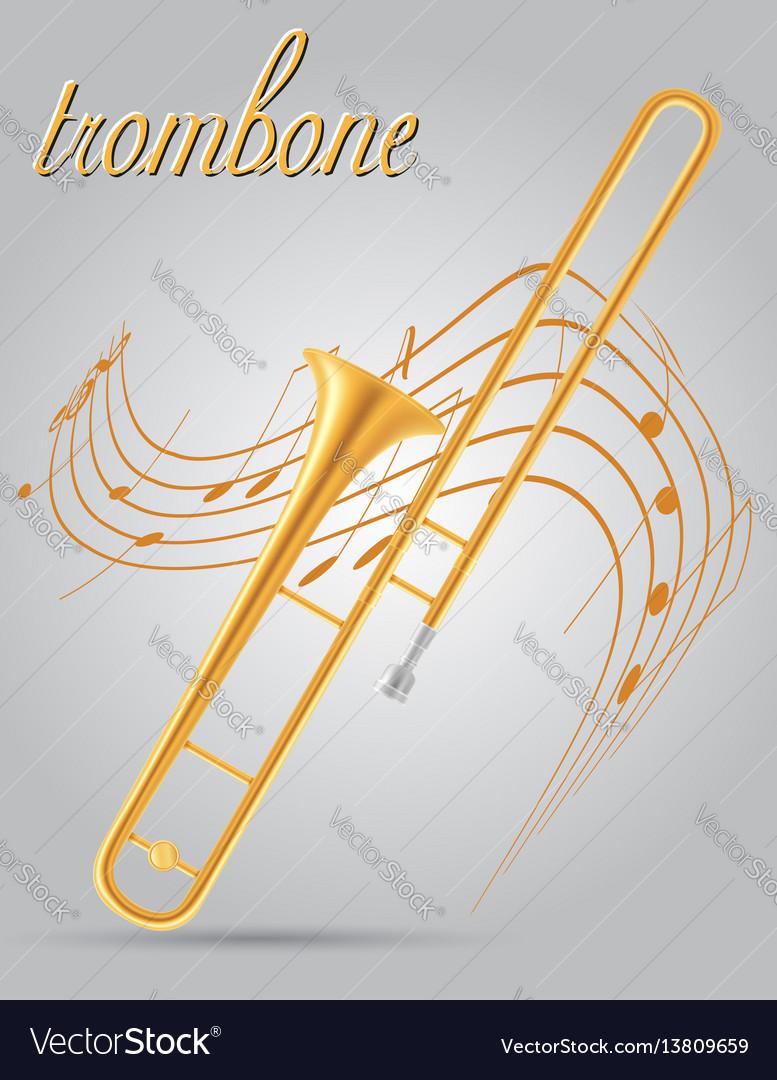 Trombone wind musical instruments stock
