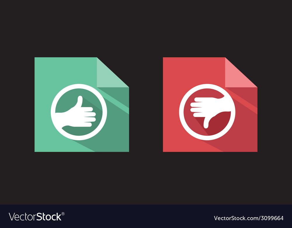 Flat icons like unlike signs