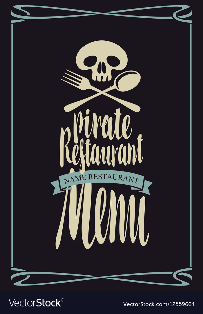 Menus for pirate restaurants