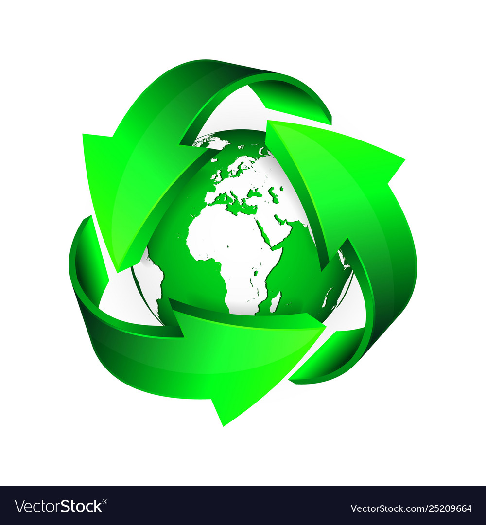 Recycle arrows and green earth