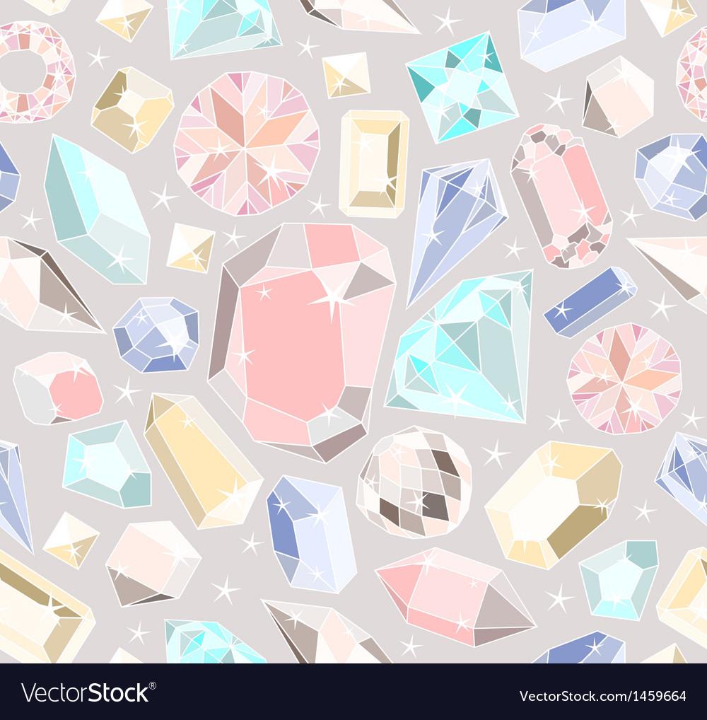 Seamless pastel diamonds pattern