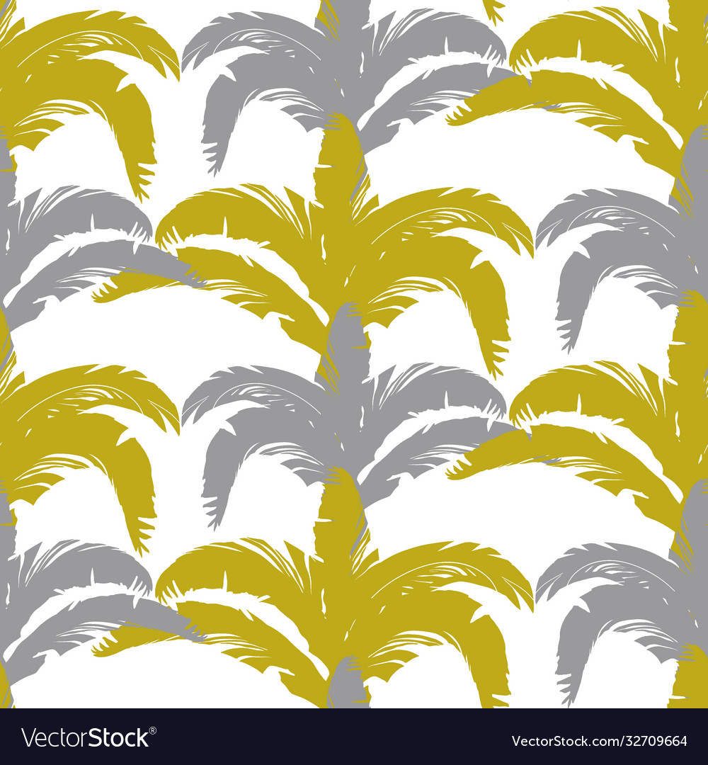 Tropical pattern with bushes in three colors gray