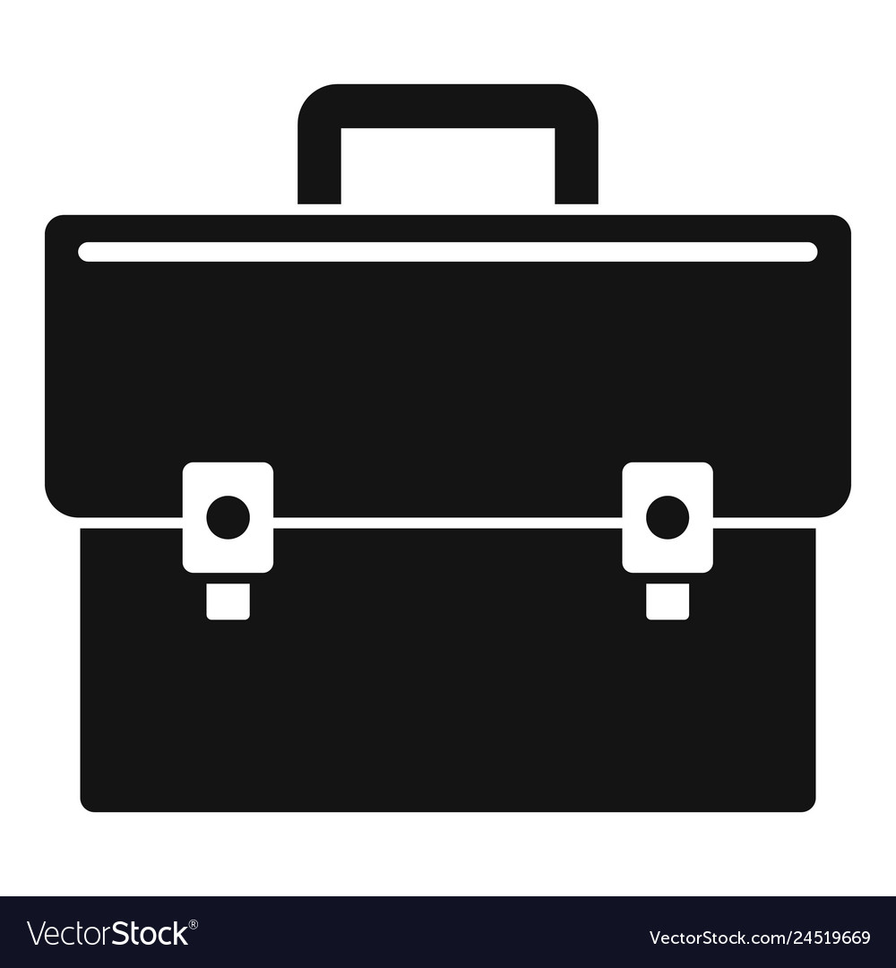 Business suitcase icon simple style