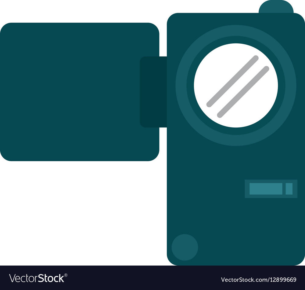 Camcorder film video travel device vector image