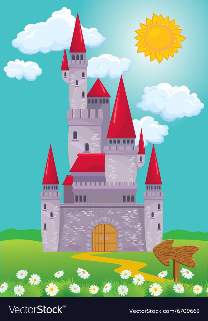 Castle 380 vector image
