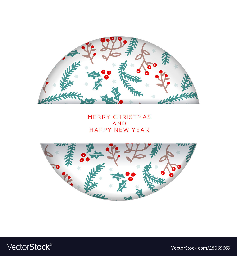 Christmas invitation or greeting card in paper cut