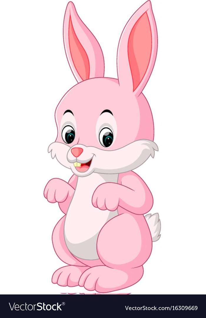 Cute Rabbit Cartoon Royalty Free Vector Image Vectorstock
