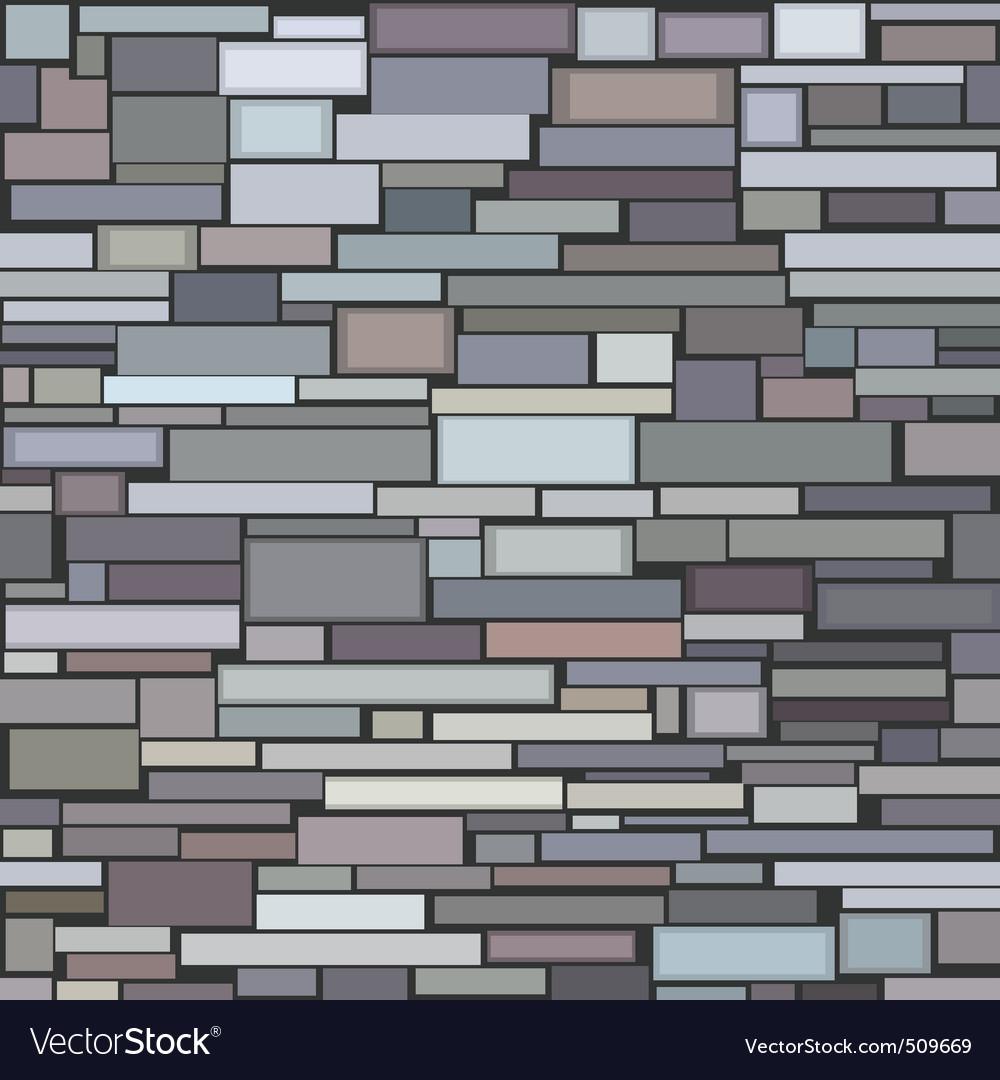Decorative Stone Wall Part - 19: Decorative stone wall vector image