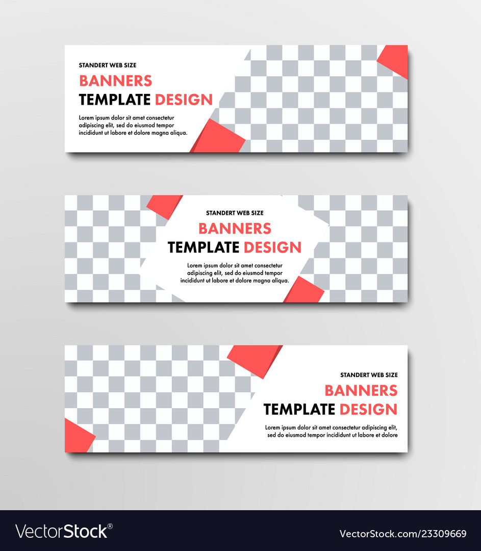 Design of horizontal white web banners with