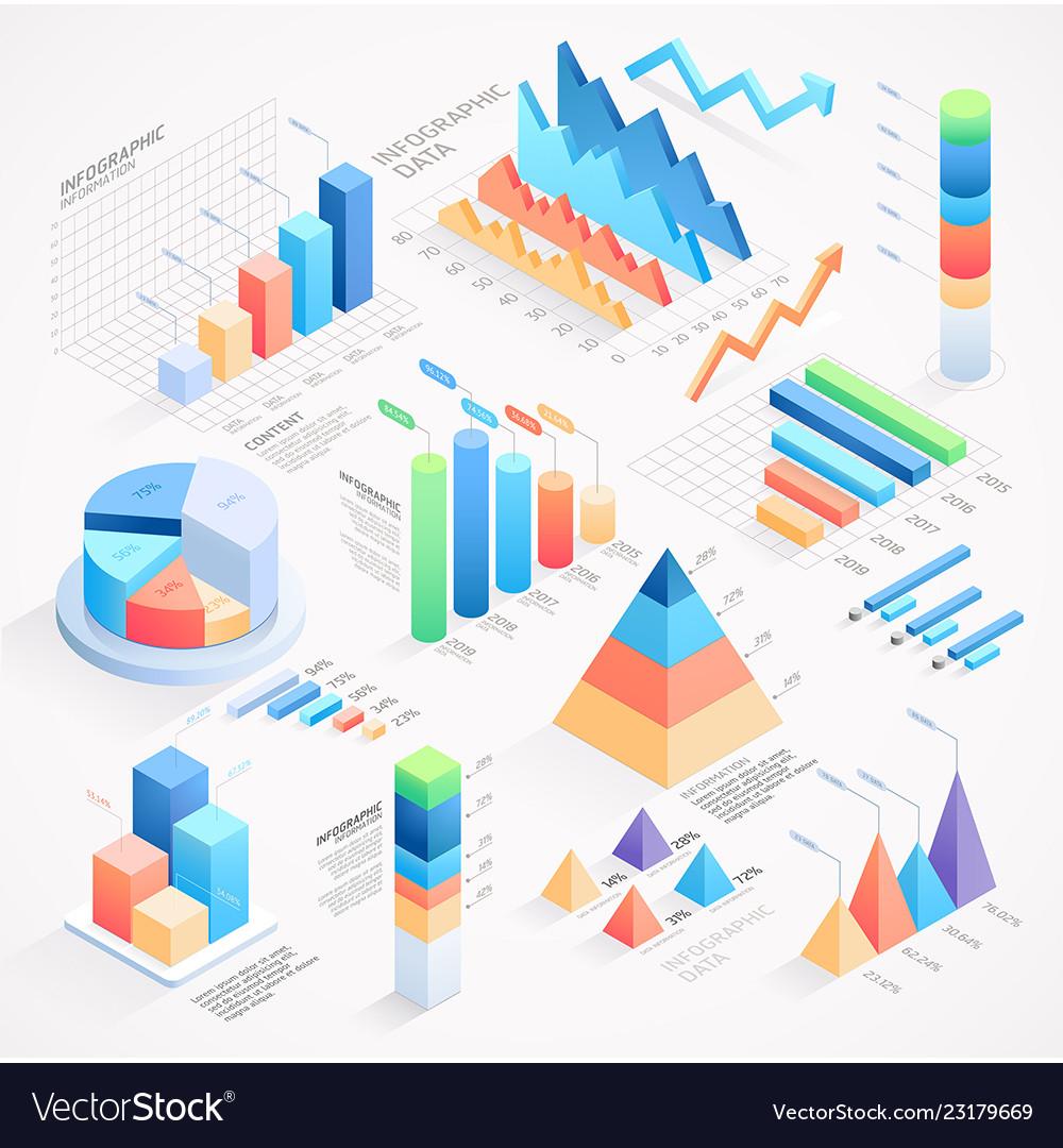 Infographics isometric elements