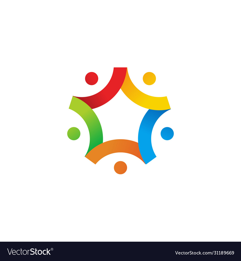 People star family team work together logo icon