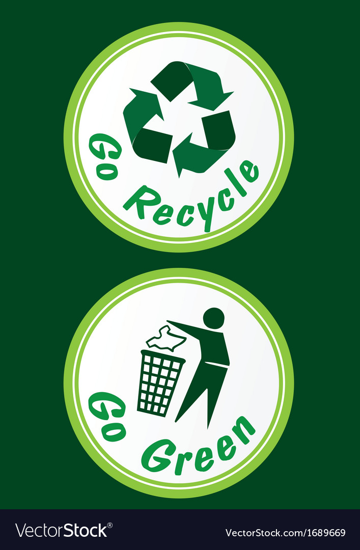 Recycling Stickers Royalty Free Vector Image Vectorstock