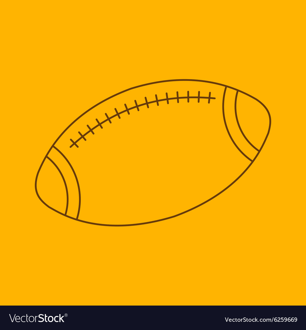Rugby line icon