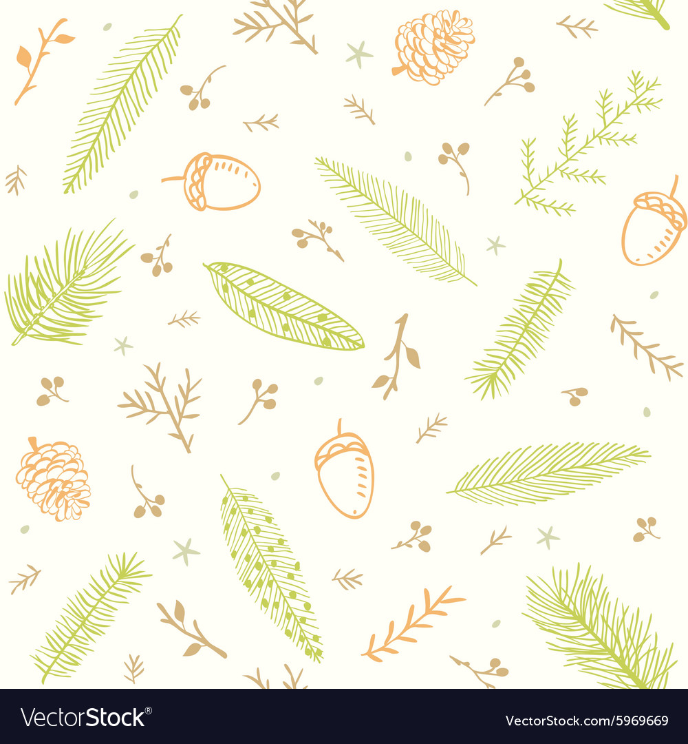 Seamless pattern branches