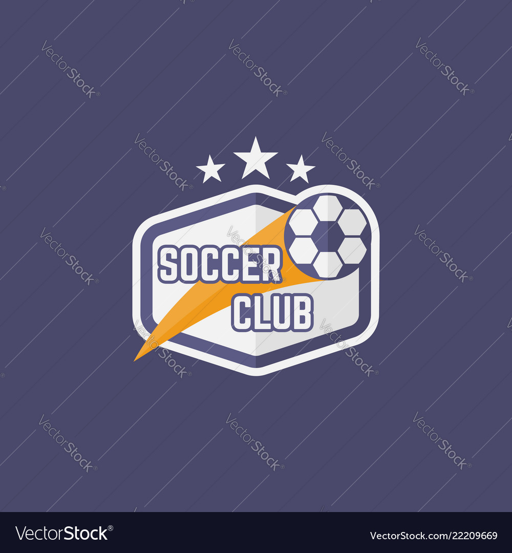 Soccer sport team isolated emblem