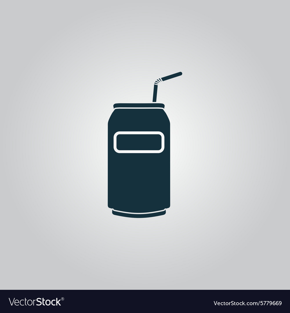 Soda Cans with tube icon