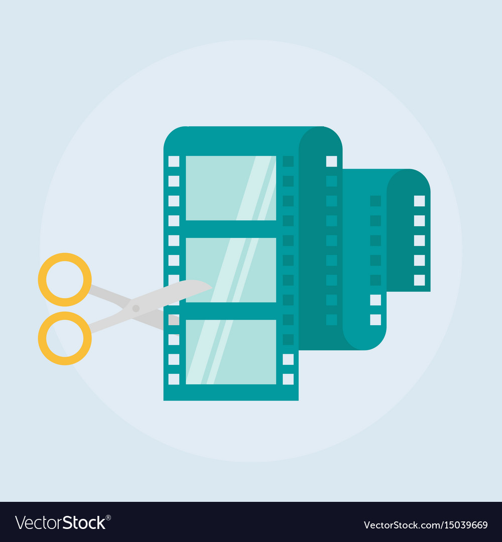 Video editing flat icon