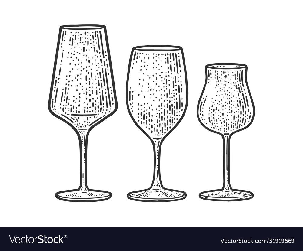 Wine glasses sketch