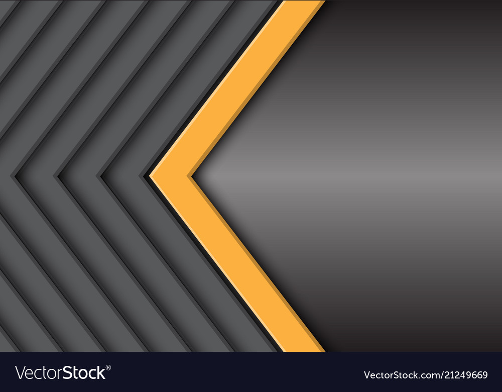 Yellow grey arrow pattern with metal blank space