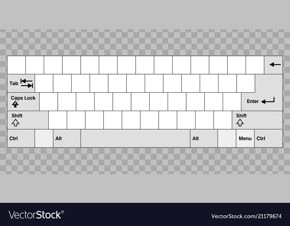 Blank computer keyboard