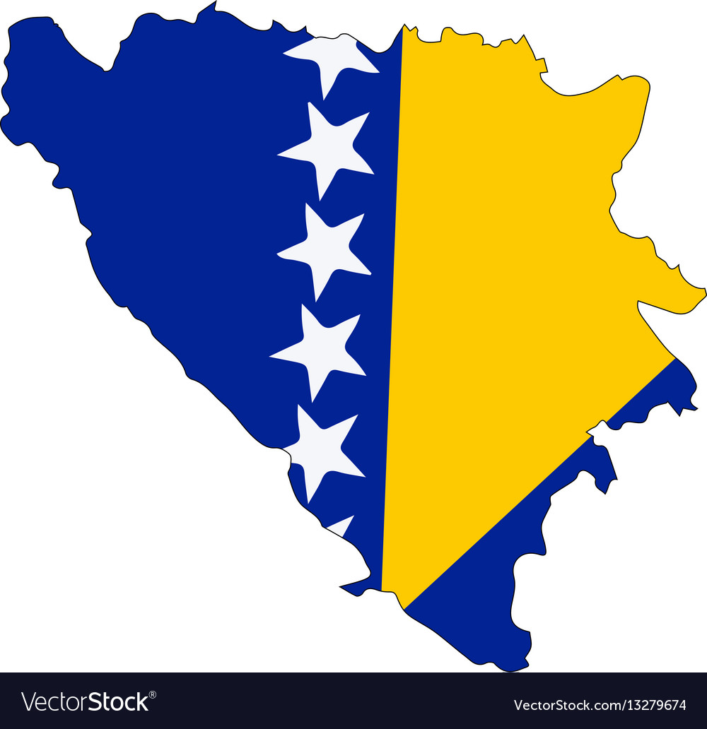Bosnia and herzegovina map vector image