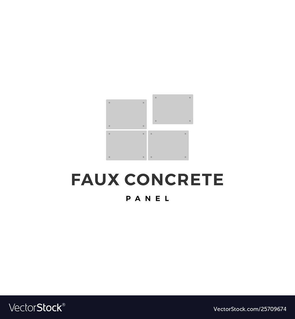Faux concrete exposed wall panel logo icon
