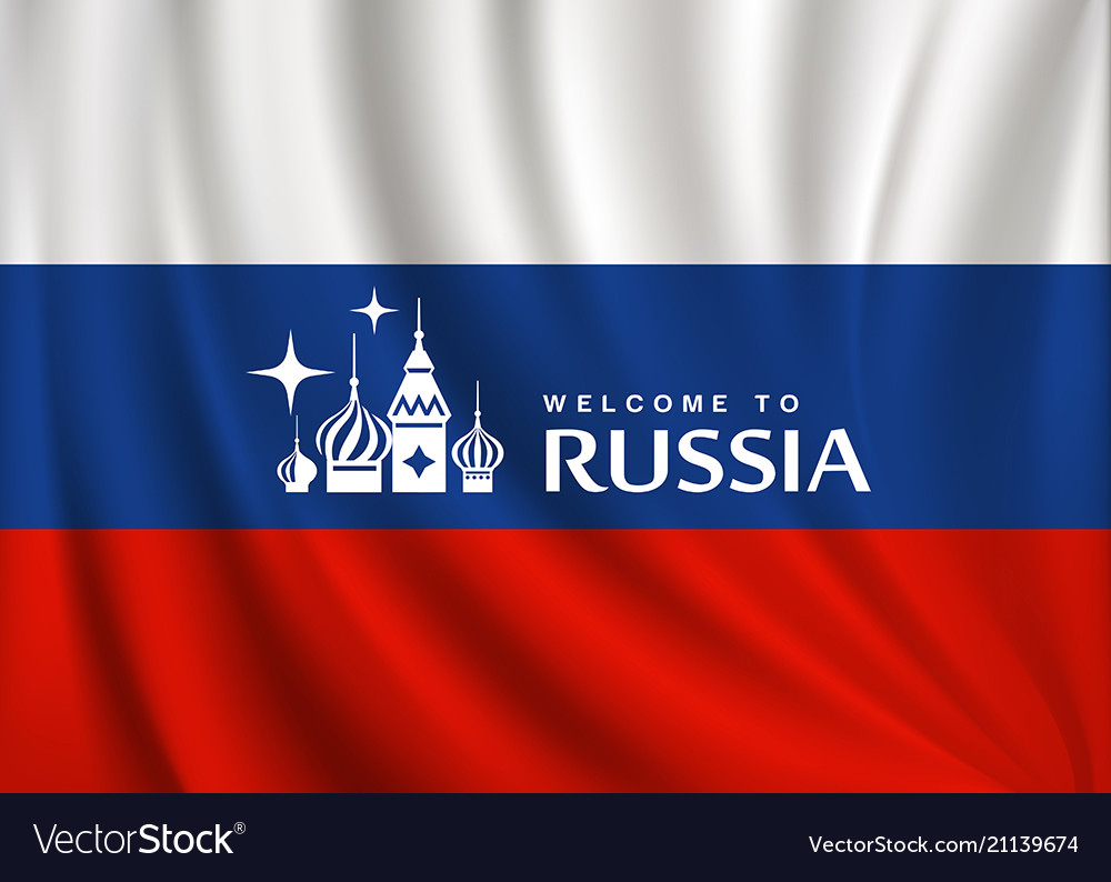 Flag of russia design background