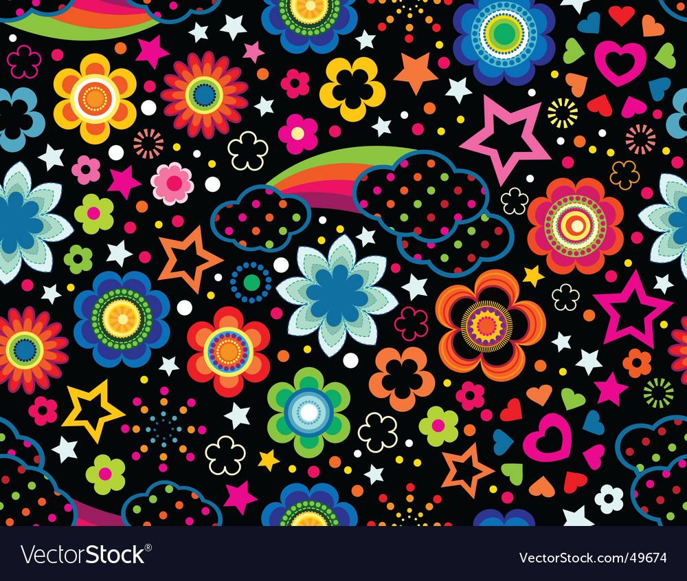 Floral rainbow background