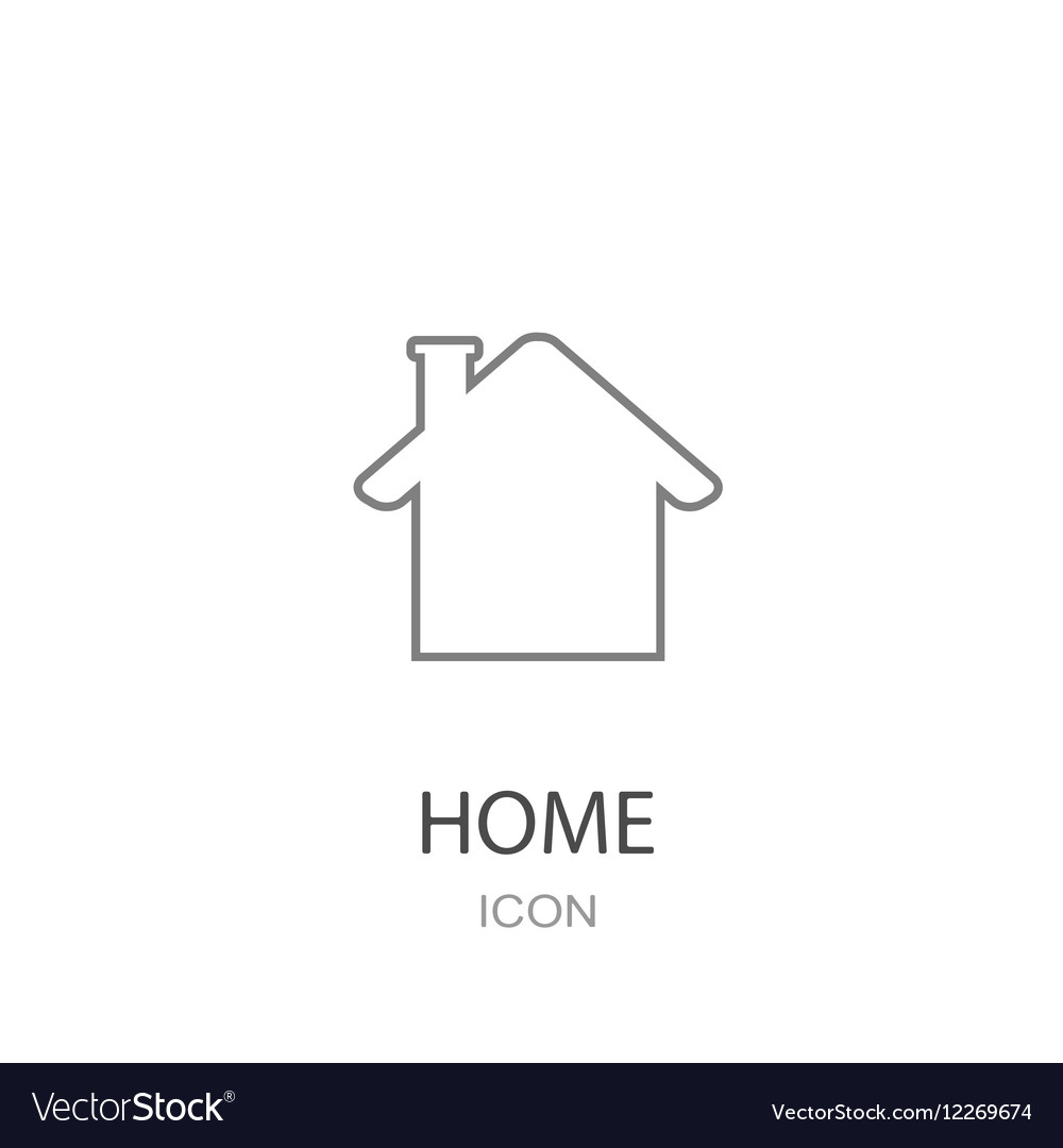 House icon flat style object
